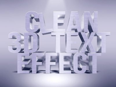 3D metallic Standing Text Effect