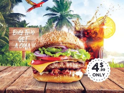 Burger Restaurant Poster Design Photoshop Tutorial