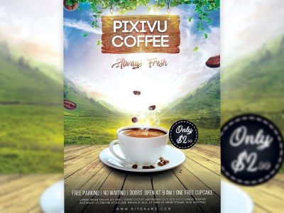 Coffee Flyer Photoshop Tutorial
