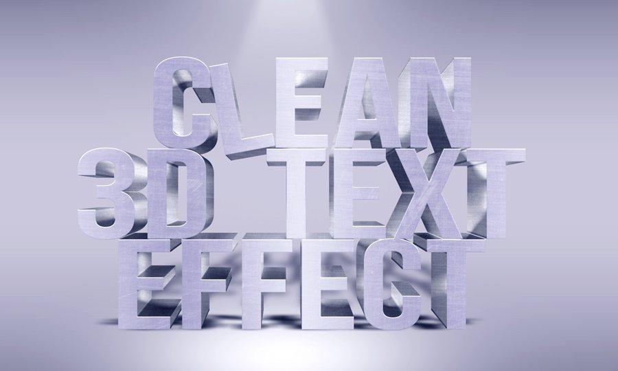 3d text effect photoshop tutorial